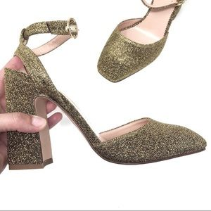 J. Crew Shoes - NEW J.CREW HARLIW ANKLE-STRAP PUMPS IN GOLD LUREX